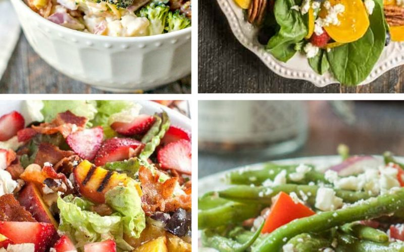 10 Refreshing Salad Summer Dinner Ideas | ReneeatGreatPeace.com #mealplanning #summerdinnerideas #familydinnerideas #whatsfordinner #dinner