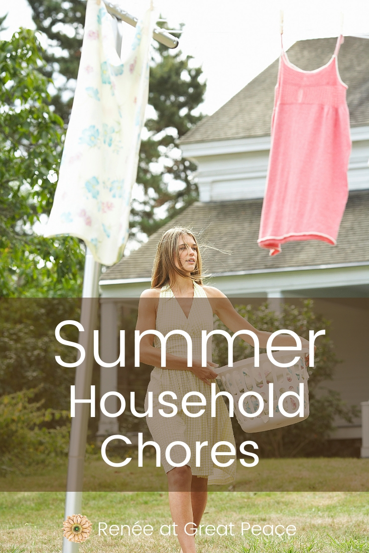 Household Chores to Tackle in Summer | Renée at Great Peace #householdchores #household #homemakers #homes #families