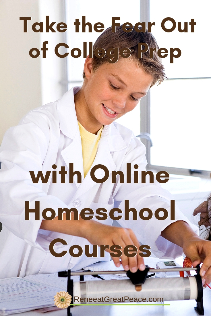 Take the Fear Out of College Prep with Online Homeschool Courses | ReneeatGreatPeace.com #collegeprep #homeschool #homeschoolhighschool #homeschoolscience #ihsnet