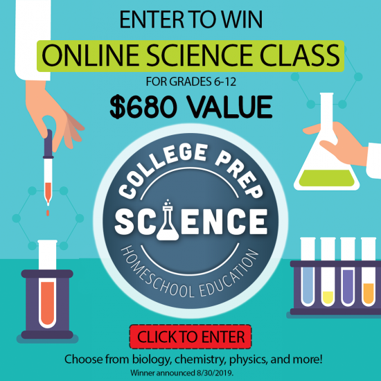 Enter to Win an Online Science Class with College Science Prep Giveaway valued at $680.