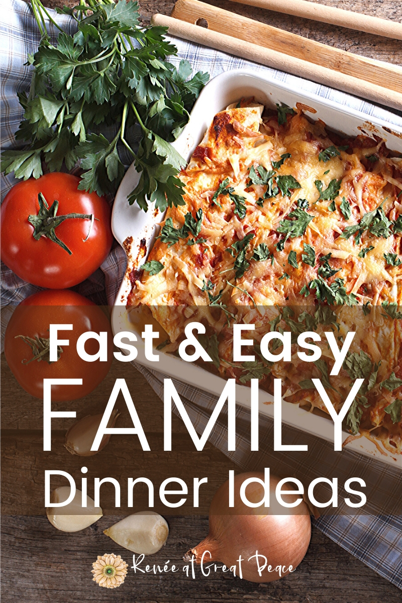 Fast and Easy Family Dinner Ideas | These fast and easy family dinner ideas are perfect for any night of the week. No matter what recipe you choose your family will be full and happy. 