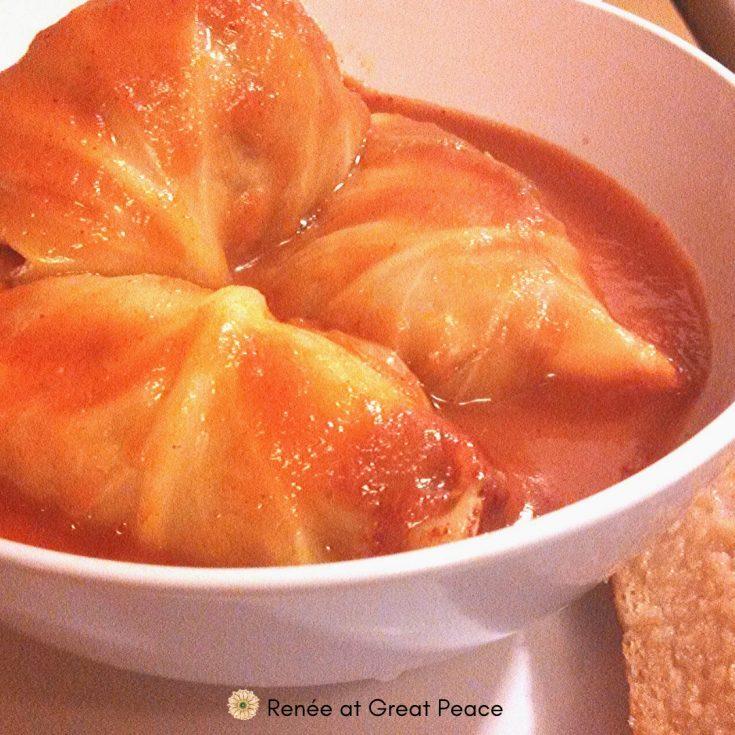 Country Classic Cabbage Rolls Recipe | Renee at Great Peace #mealplanning #winterdinnerideas #dinnerideas #familydinnerideas #newyearsdinner #newyears #dinner