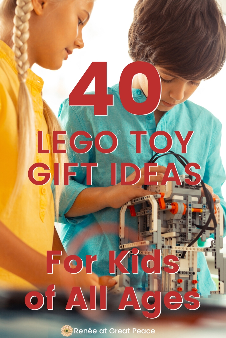 40 LEGO Gift-Ideas for Kids of All Ages | Renee at Great Peace #LEGO #Giftideas #gifts #homeschoolers #homeschoolmoms #homeschool #ihsnet