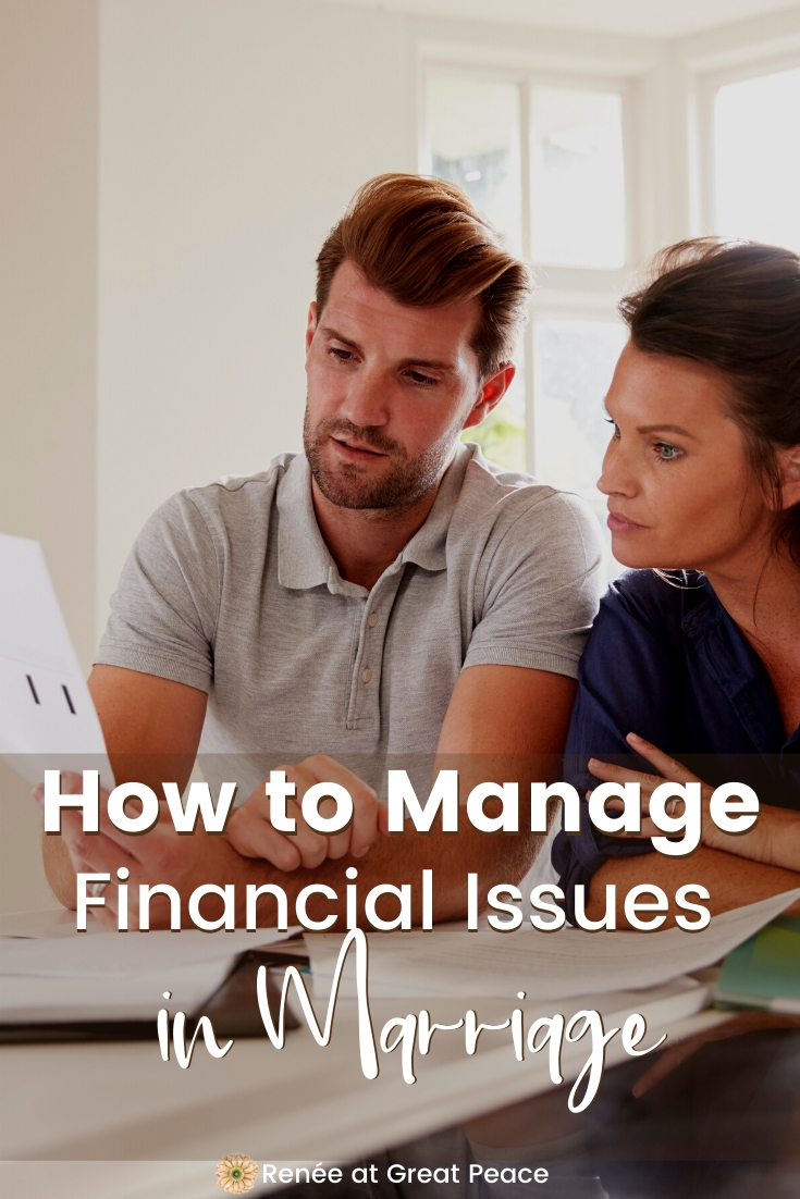 5 Tips for Peacefully Managing Financial Issues in Marriage | Renée at Great Peace #marriagemoments #marriage #husbandsandwives #marriagefinances #finances #ihsnet