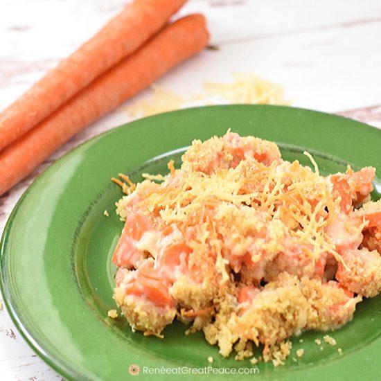 Carrots Au Gratin Recipe for a Spring Idea | Renee at Great Peace #familydinnerideas #dinnerideas #mealplanning #springdinnerideas #carrots