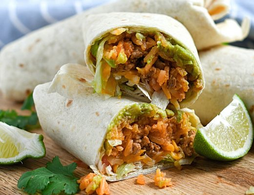 Ground Turkey Burrito Recipe for your next family dinner idea | Renee at Great Peace #turkey #buritto #familydinnerideas #familydinner #dinner #mexicanfood