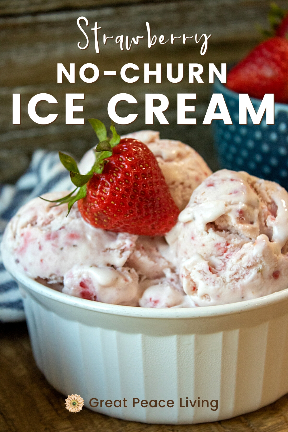 Strawberry No-Churn Ice Cream