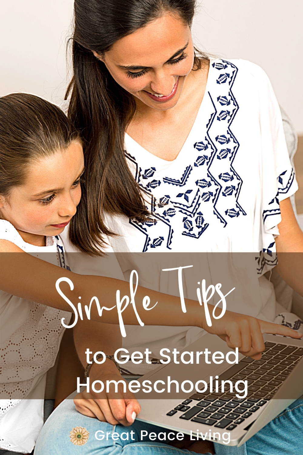 Simple Tips to Get Started Homeschooling | Great Peace Living #homeschooling #homeschool #homeschoolmoms #howtohomeschool #ihsnet