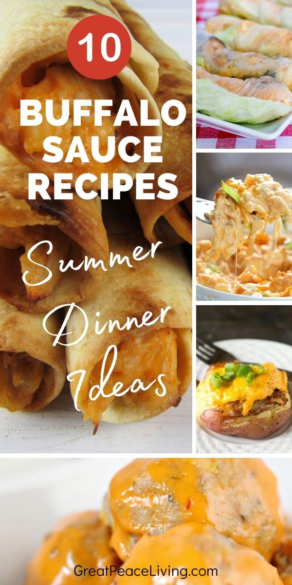 Buffalo Sauce Dinner Recipes | GreatPeaceLiving.com #mealplanning #dinnerrecipes #dinnerideas #summerdinnerideas #buffalosauce
