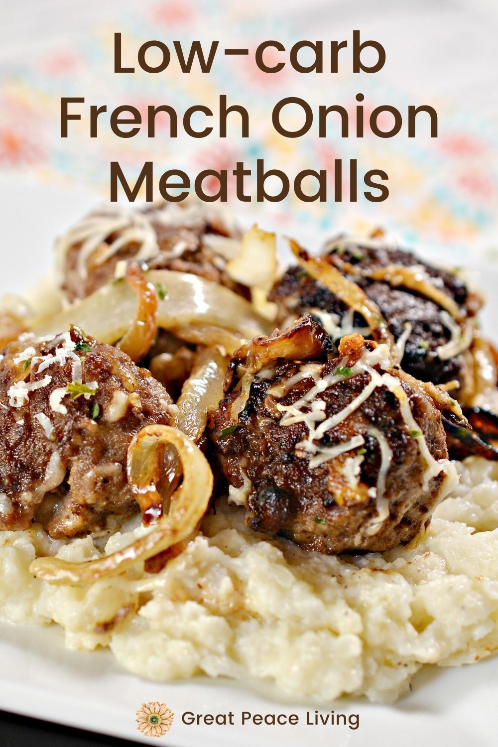 Low-carb French Onion Meatballs