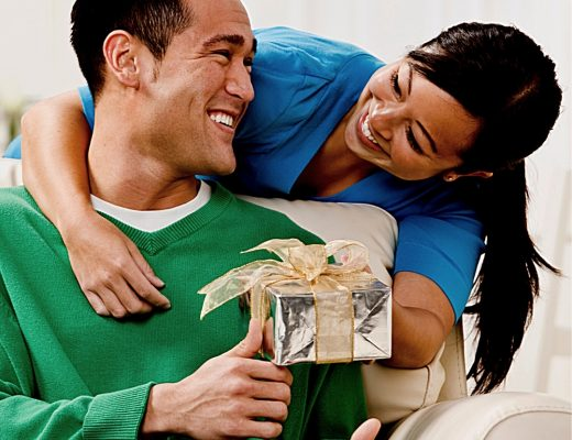Great Gifts for Husbands | Wife giving gift to husband