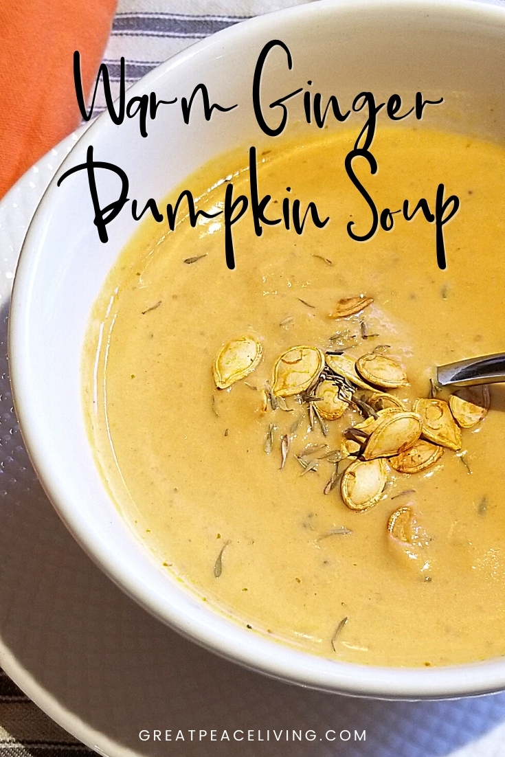 Warm Ginger Pumpkin Soup Recipe