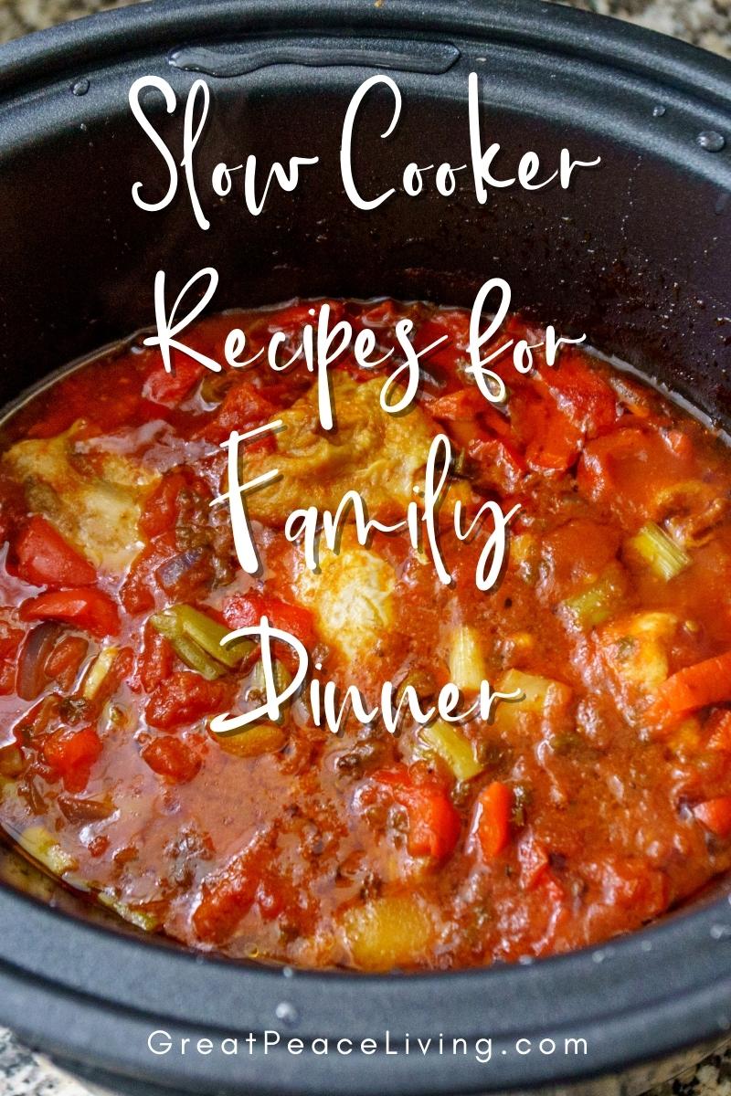 15 Slow Cooker Family Dinner Ideas | Great Peace Living #familydinner #slowcooker #cooking #mealplan #dinnerideas
