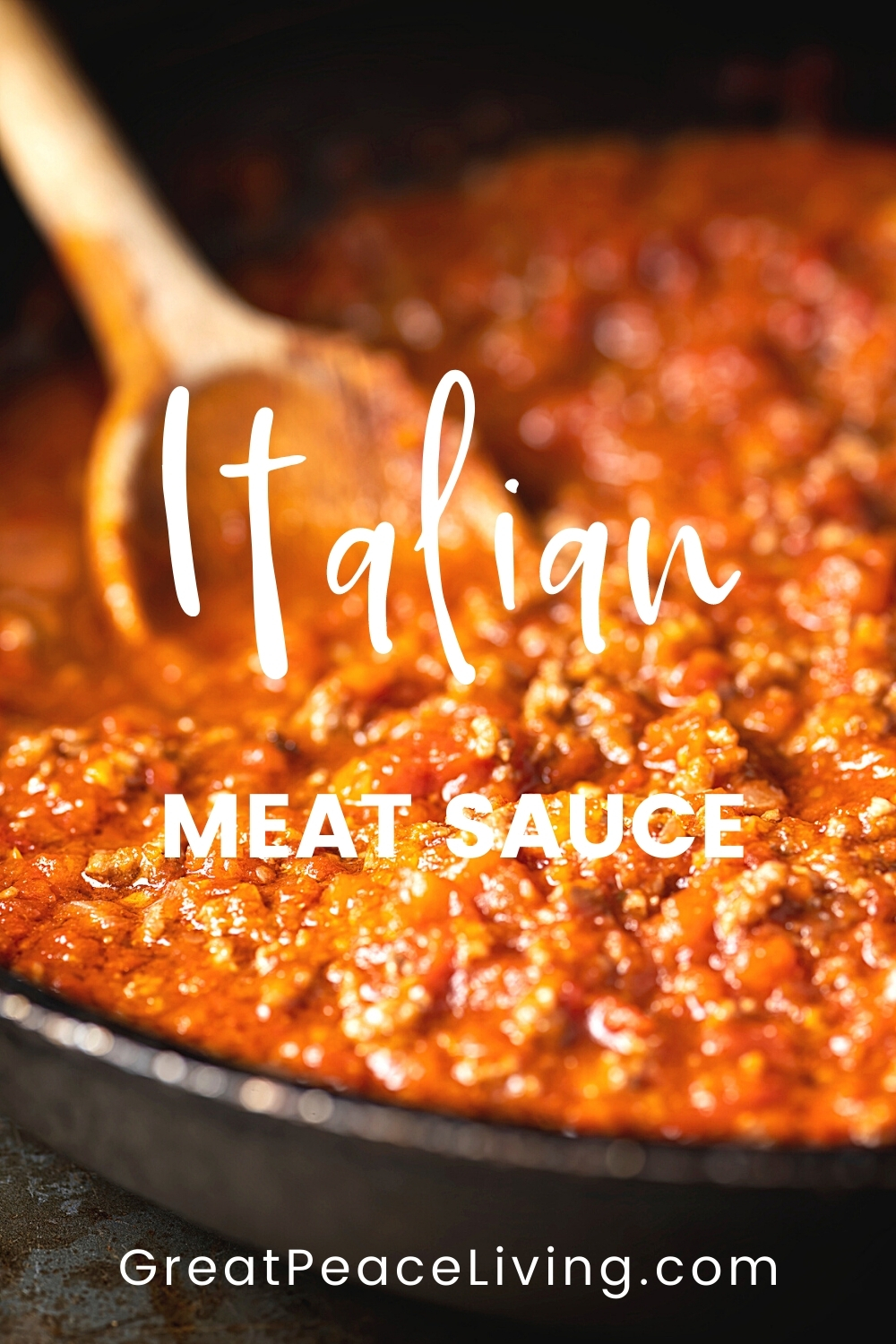 How to Make Italian Meat Sauce From Scratch | GreatPeaceLiving.com #mealplanning #familydinnerideas #dinnerrecipes #Italianmeatsauce
