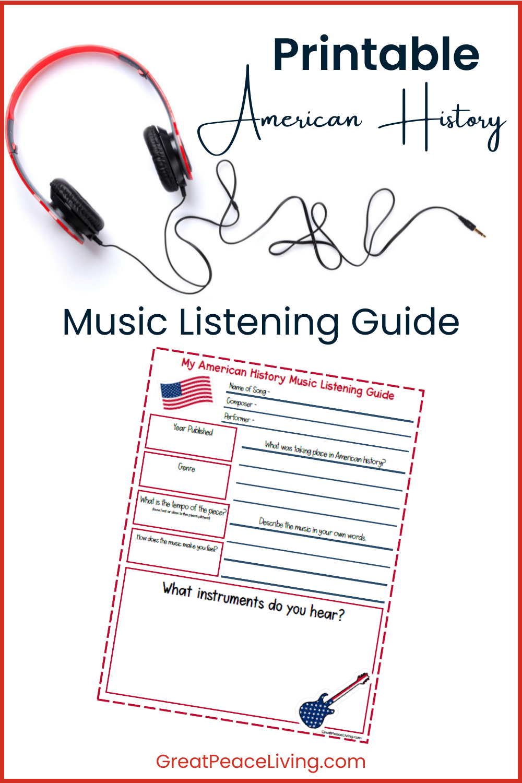 American History Music Unit Study   GreatPeaceLiving.com #music #musicinhomeschool #homeschool